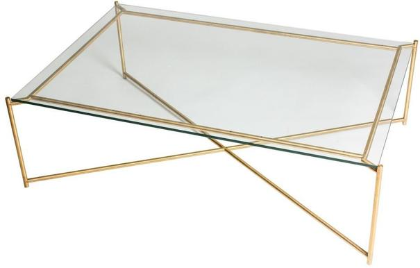 Iris Rectangle Coffee Table Clear Glass Top