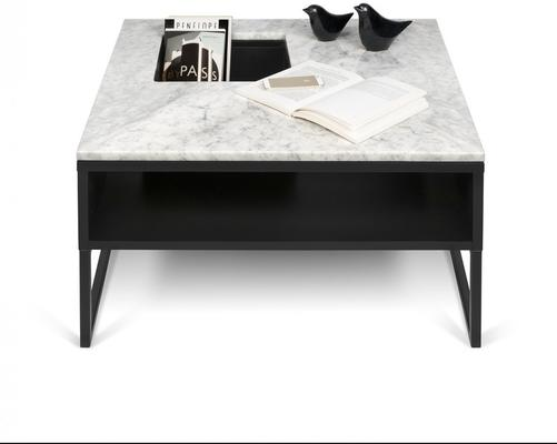 Sigma Coffee Table White or Black Marble image 9