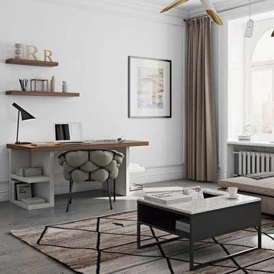 Sigma Coffee Table White or Black Marble image 14