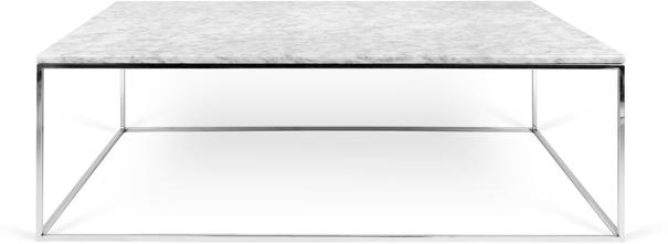 Gleam Rectangular Coffee Table Black Marble or Wood Top