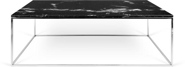 Gleam Rectangular Coffee Table Black Marble or Wood Top image 3