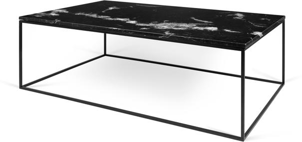 Gleam Rectangular Coffee Table Black Marble or Wood Top image 4