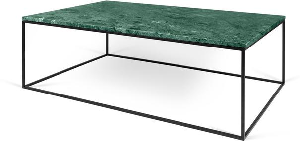 Gleam Rectangular Coffee Table Black Marble or Wood Top image 6