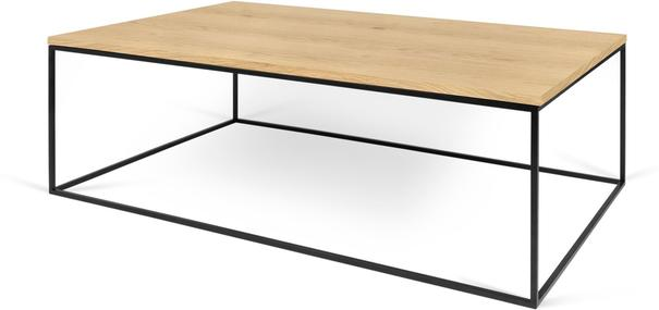 Gleam Rectangular Coffee Table Black Marble or Wood Top image 8
