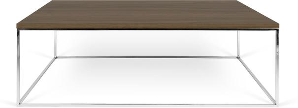 Gleam Rectangular Coffee Table Black Marble or Wood Top image 9
