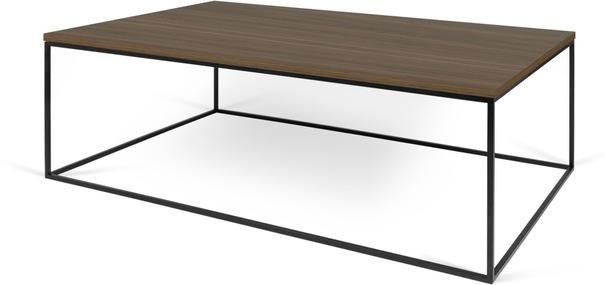 Gleam Rectangular Coffee Table Black Marble or Wood Top image 10