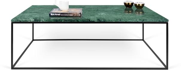 Gleam Rectangular Coffee Table Black Marble or Wood Top image 16