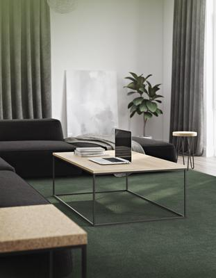 Gleam Rectangular Coffee Table Black Marble or Wood Top image 18