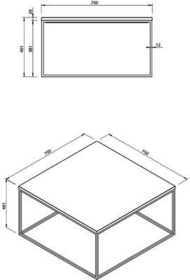 Gleam square coffee table image 23