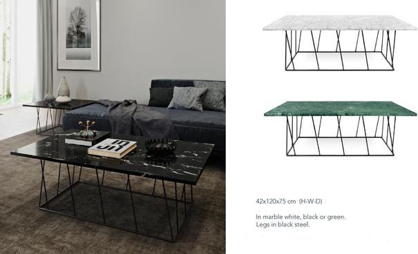 Helix (Marble) Rectangular Coffee Table image 10