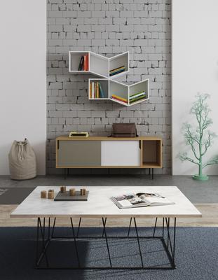 Helix (Marble) Rectangular Coffee Table image 11