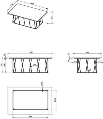 Helix (Marble) Rectangular Coffee Table image 14