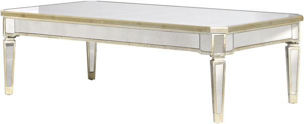 Venetian Antiqued Mirror Coffee Table