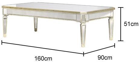Venetian Antiqued Mirror Coffee Table image 2