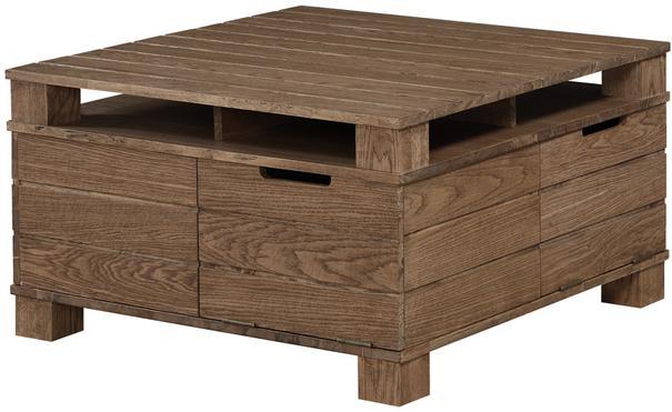Jual Industrial Coffee Table SW202 in Rustic Oak image 2