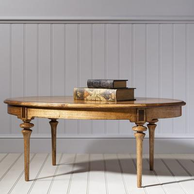 Spire Antiqued Wood Oval Coffee Table image 2