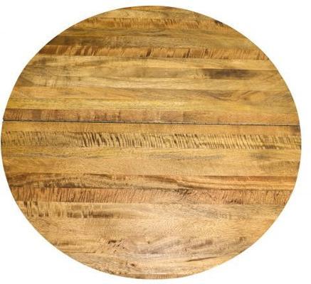 Birdcage Round Coffee Table Vintage Mango Wood and Steel image 5