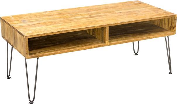 Hairpin Coffee Table Mango Wood and Steel