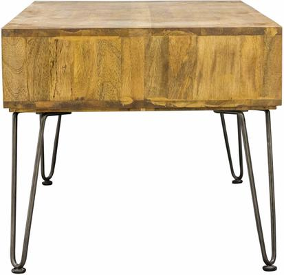 Hairpin Coffee Table Mango Wood and Steel image 2