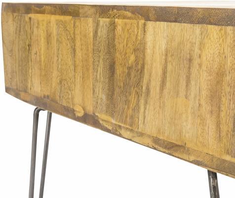 Hairpin Coffee Table Mango Wood and Steel image 4