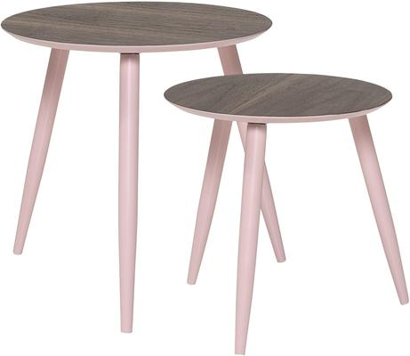 Bloomingville Asta Coffee Tables in Rose, Set of 2
