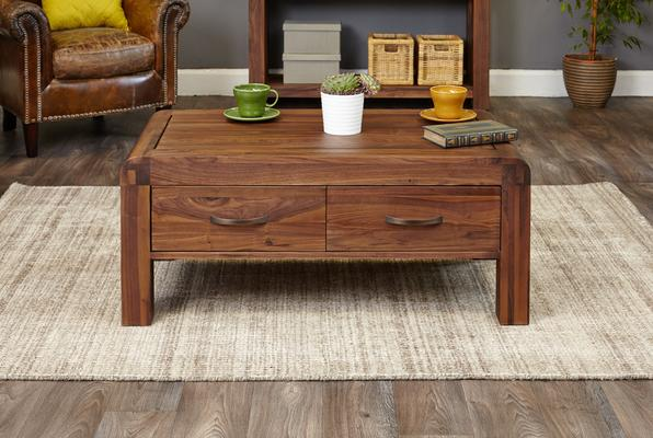Shiro Walnut 4 Drawer Coffee Table image 2