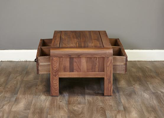 Shiro Walnut 4 Drawer Coffee Table image 5