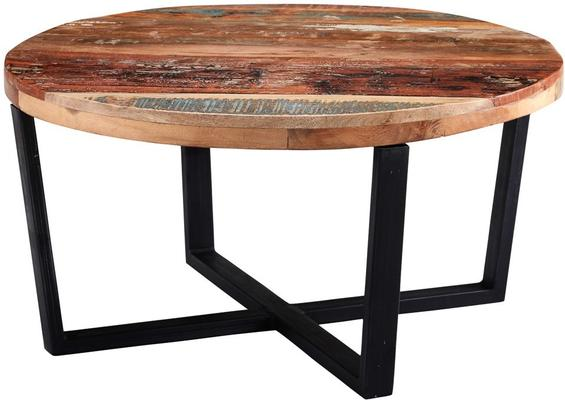 Coastal Round Coffee Table Reclaimed Wood image 3