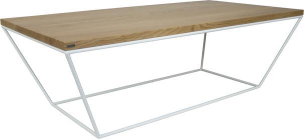 Albino Coffee Table - Lacquered Oak / White Frame