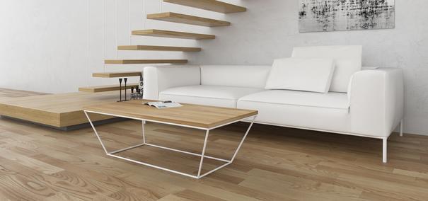 Albino Coffee Table - Lacquered Oak / White Frame image 2