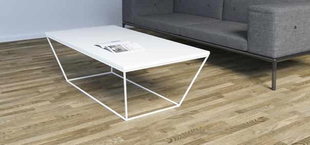 Albino Coffee Table - White MDF Top / White Frame image 2