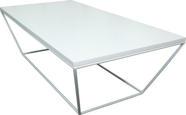 Albino Coffee Table - White MDF Top / White Frame