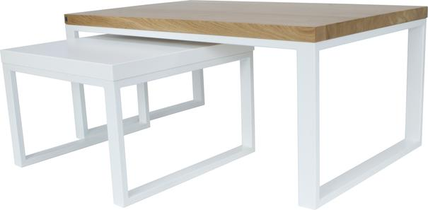 Duet Nest of Tables - Oak and White