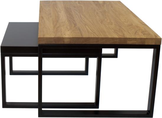 Duet Nest of Tables - Oak and Black Top image 2