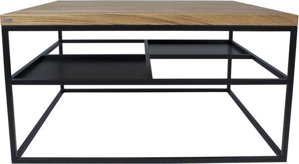 Foursquare Coffee Table - Oak and Black finish