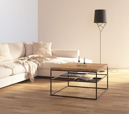 Foursquare Coffee Table - Oak and Black finish image 3