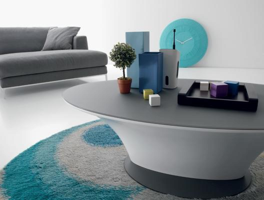 Boat oval coffee table