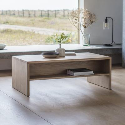 Kielder Rectangular Coffee Table Solid Oak image 4