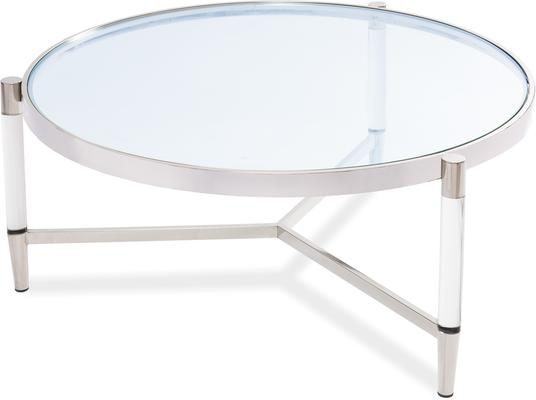Ralph Glass Coffee Table - Steel or Brass Frame