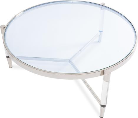 Ralph Glass Coffee Table - Steel or Brass Frame image 2