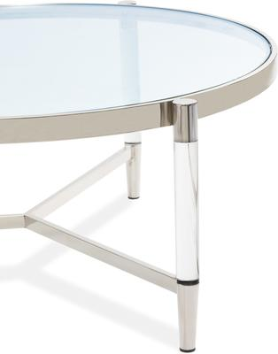 Ralph Glass Coffee Table - Steel or Brass Frame image 3