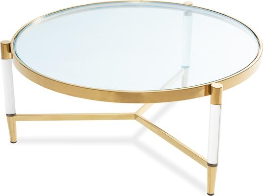 Ralph Glass Coffee Table - Steel or Brass Frame image 5