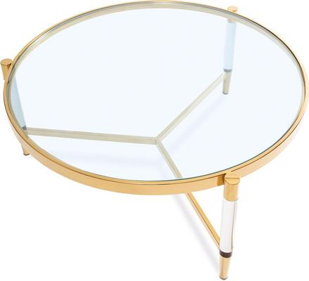 Ralph Glass Coffee Table - Steel or Brass Frame image 6