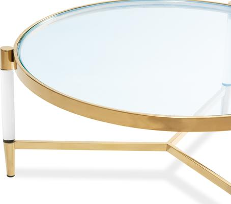 Ralph Glass Coffee Table - Steel or Brass Frame image 7