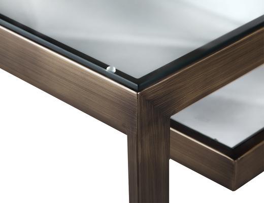 Ziggi Coffee Table Bronze Steel image 4