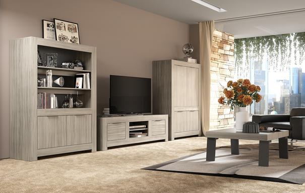 Forli Sofa Table - Caracalla Oak Finish