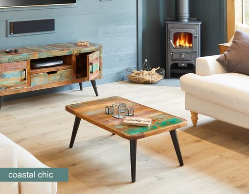 Coastal Chic Coffee Table Reclaimed Timber image 2