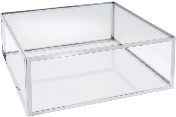 Linton Stainless Steel And Glass Square Coffee Table