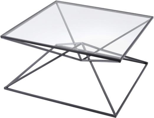 Black Geometric Pyramid Coffee Table Iron Black