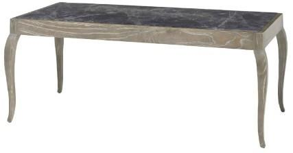 Karla Limed Oak Coffee Table Dark Marble Top